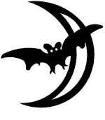 Halloween Bat Wall Hanging or Garden Stake