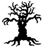 Scary Tree Wall Hanging or Garden Stake