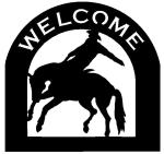 bucking bronco Customized Welcome Sign
