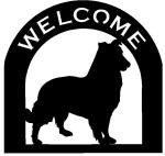 collie Customized Welcome Sign