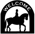 english horse Customized Welcome Sign