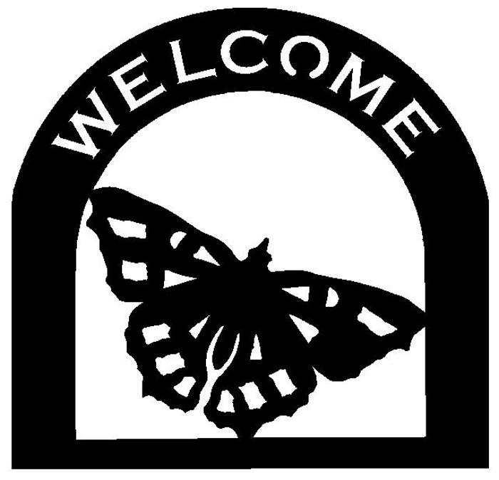 moth Customized Welcome Sign