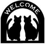 cats Customized Welcome Sign